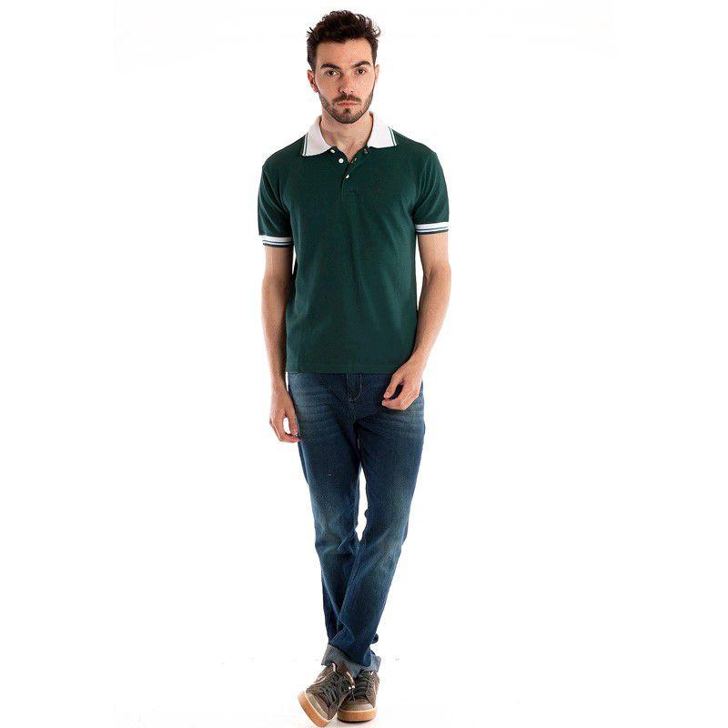 Camisa Polo Manga Curta 34812