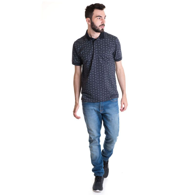 Camisa Polo Masculina Manga Curta 33601