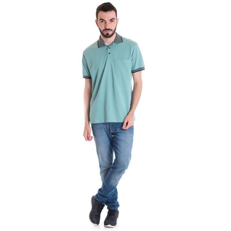 Camisa Polo Masculina Manga Curta 348048