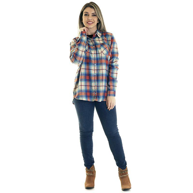 Camisa Xadrez Feminina Flanela 33401