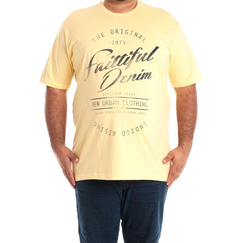 Camiseta Básica Manga Curta Plus Size 101535