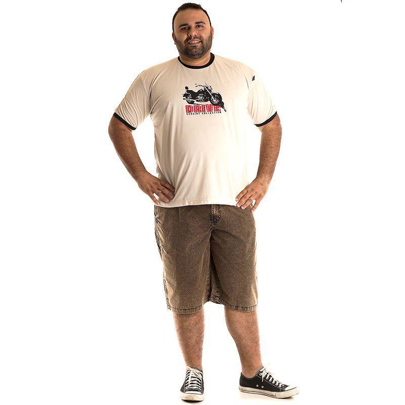 Camiseta Decote Redondo Plus Size 97302