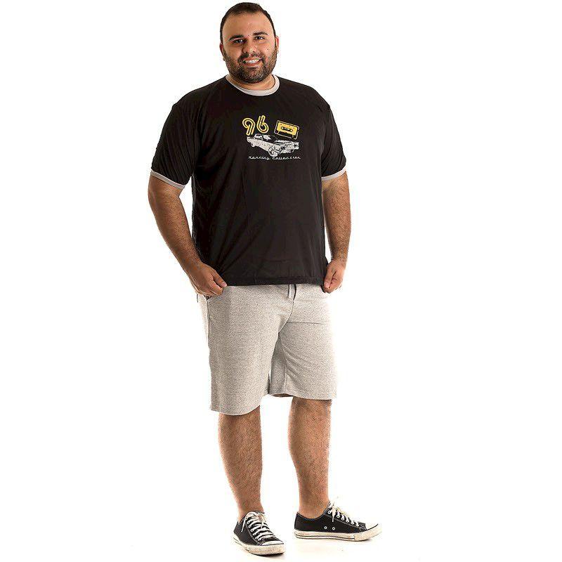 Camiseta Decote Redondo Plus Size 97303