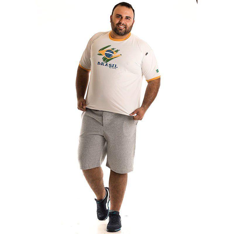 Camiseta Decote Redondo Plus Size 97304