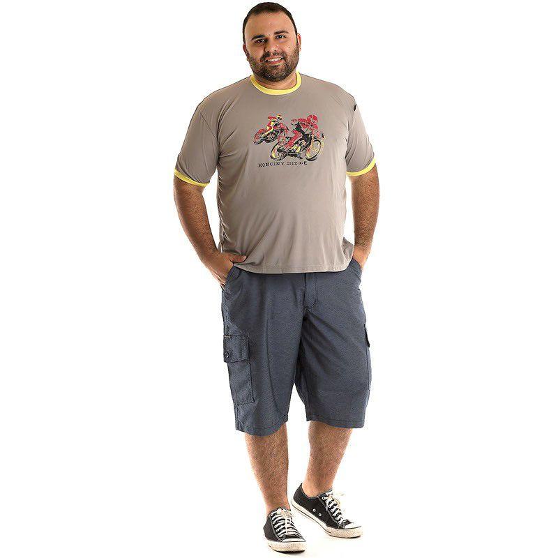 Camiseta Decote Redondo Plus Size 97305