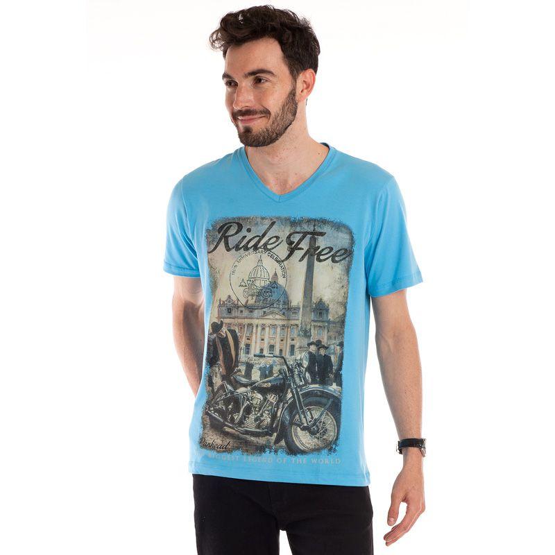 Camiseta Decote V Manga Curta 115617