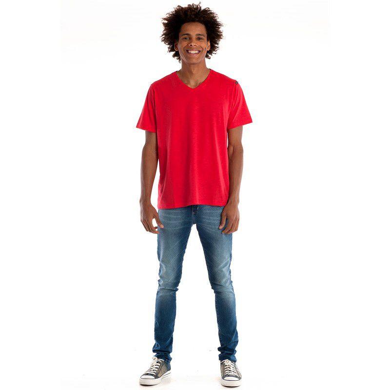 Camiseta Decote V Manga Curta 32305