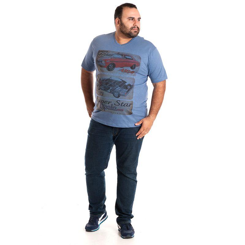 Camiseta Decote V Manga Curta Plus Size 115217