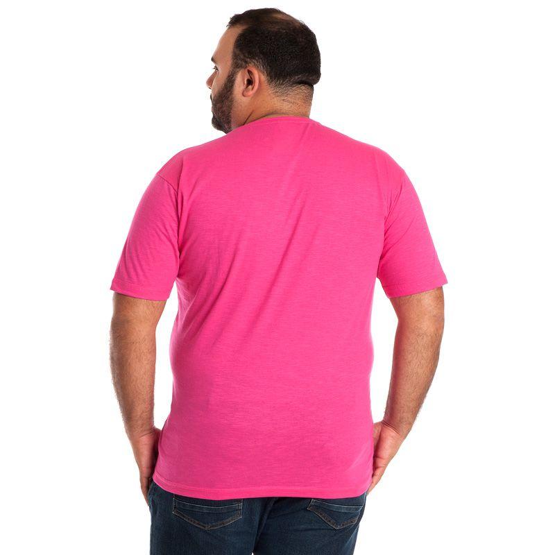 Camiseta Decote V Manga Curta Plus Size 115222