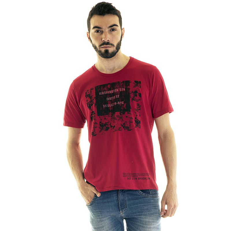 Camiseta Manga Curta Estampada 30867