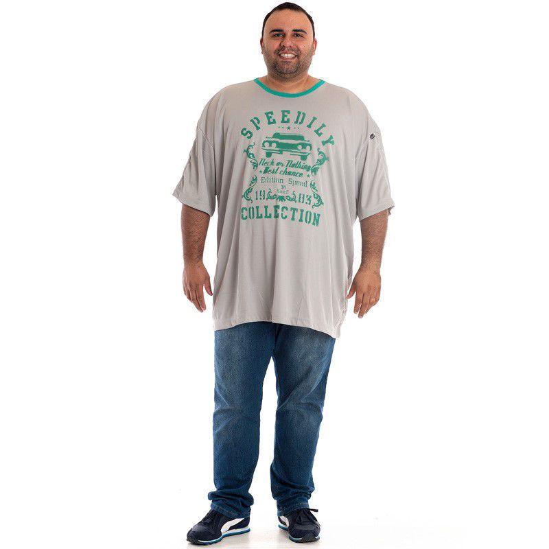 Camiseta Manga Curta Plus Size 98807