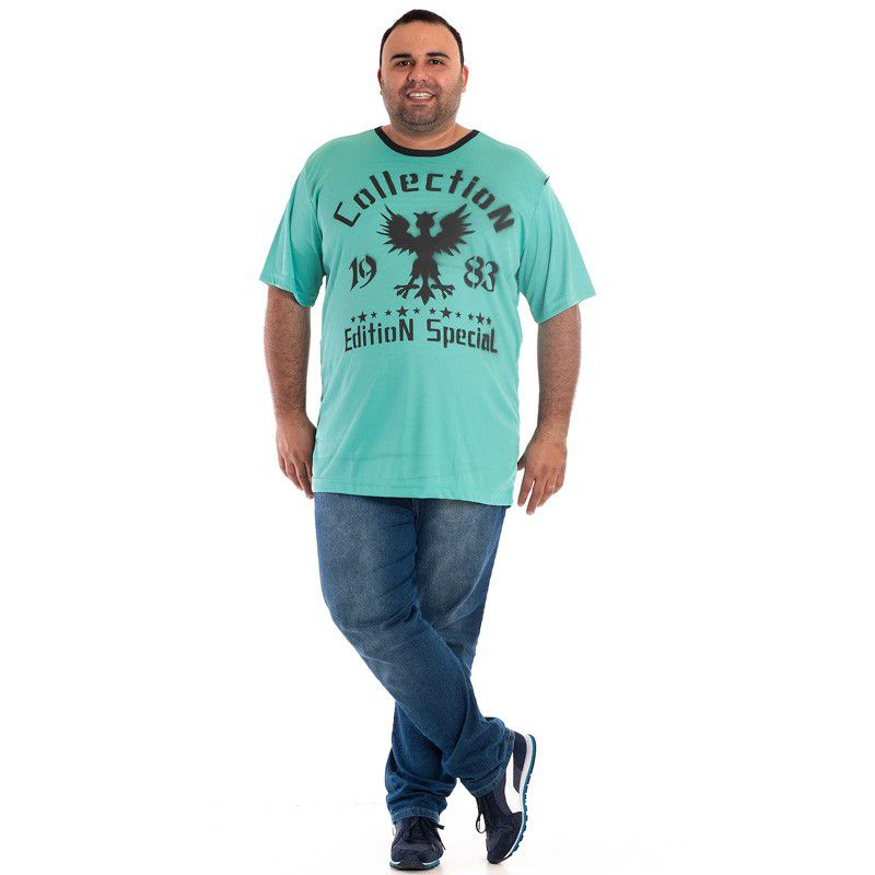 Camiseta Manga Curta Plus Size 98811