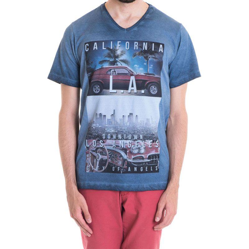 Camiseta Masculina Manga Curta Estonada 33008