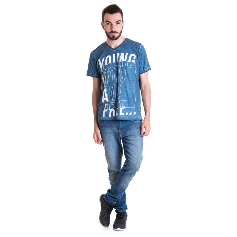 Camiseta Masculina Manga Curta Estonada 33010