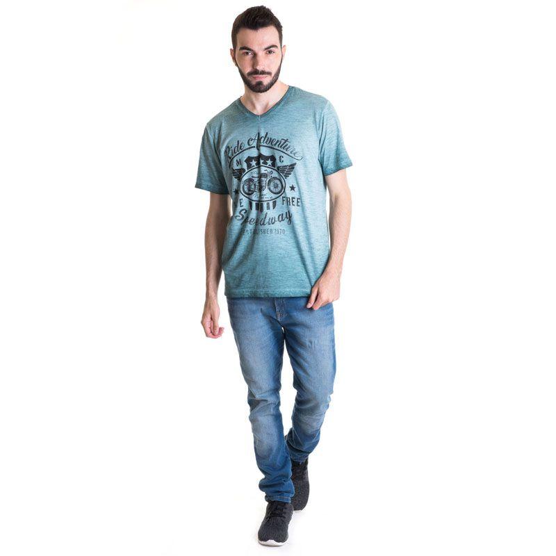 Camiseta Masculina Manga Curta Malha Flamê 33002