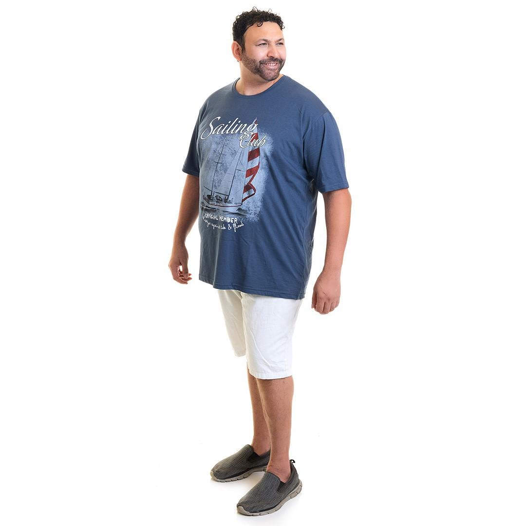 Camiseta Masculina Manga Curta Plus Size 10631