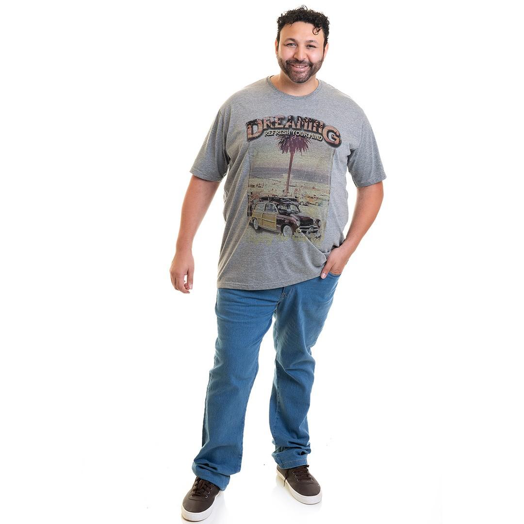 Camiseta Masculina Manga Curta Plus Size 10633