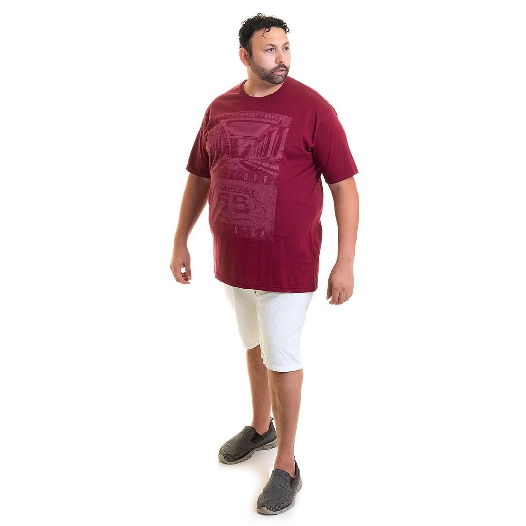 Camiseta Masculina Manga Curta Plus Size 10637