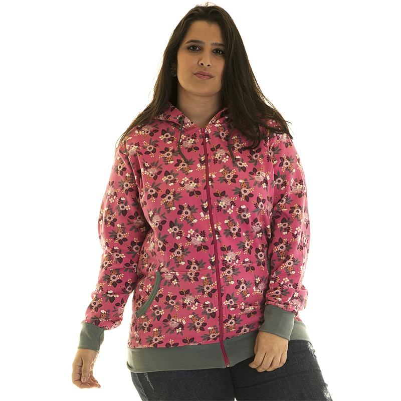 Jaqueta Moletom Estampado Plus Size 85216