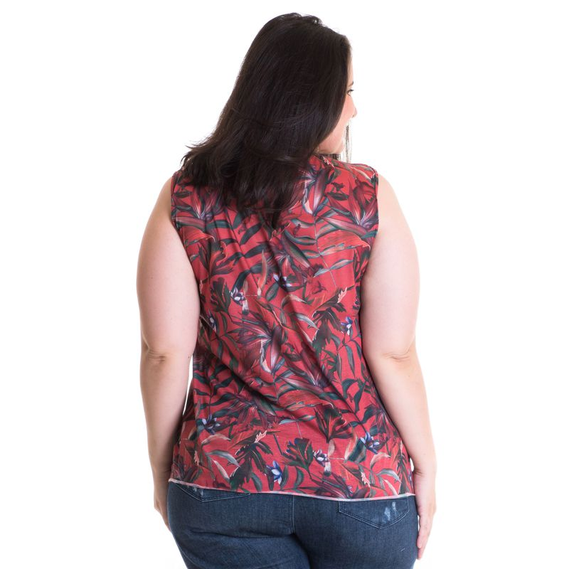 Regata Feminina Plus Size Viscose Estampada 41219