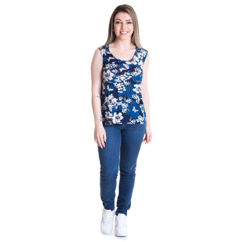 Regata Feminina Viscose Estampada 41116