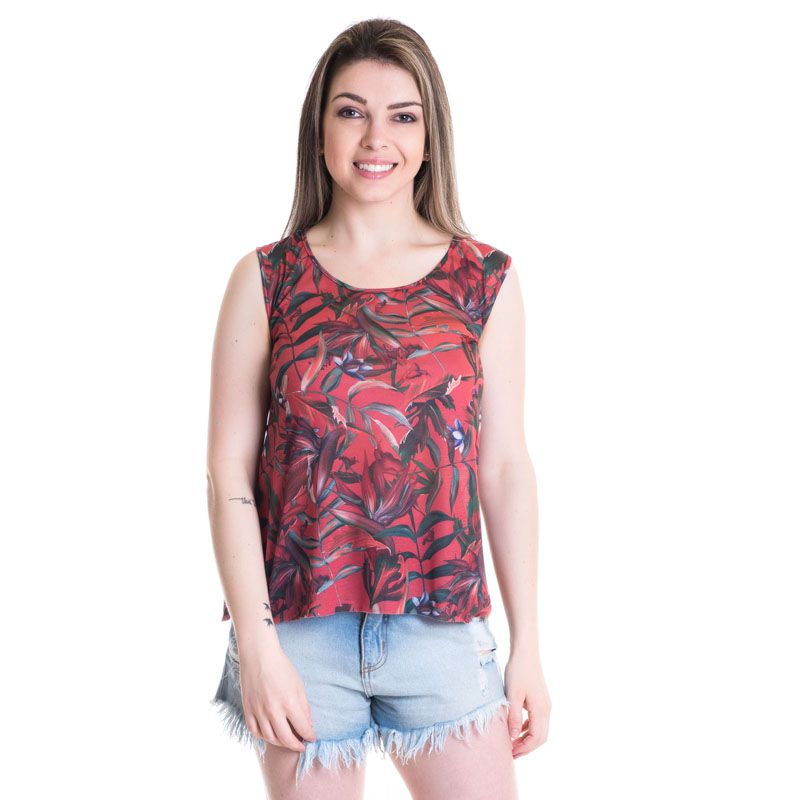 Regata Feminina Viscose Estampada 41119