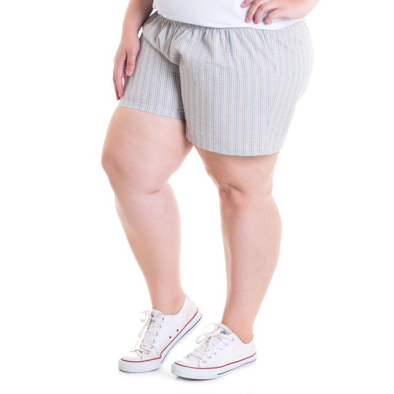Short 27 Plus Size Tecido Anarruga 51930