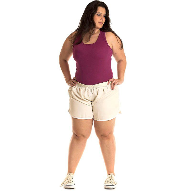 Short Tactel Plus Size 50201