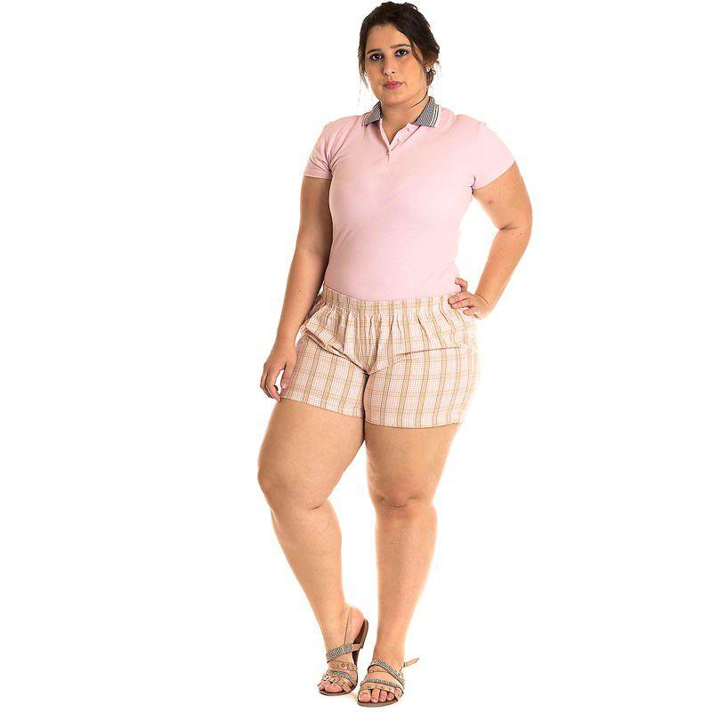 Short Tecido Plus Size 51902