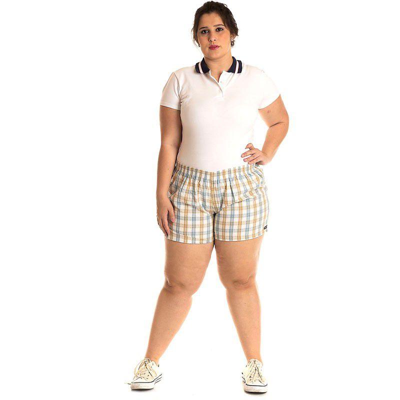 Short Tecido Plus Size 51911