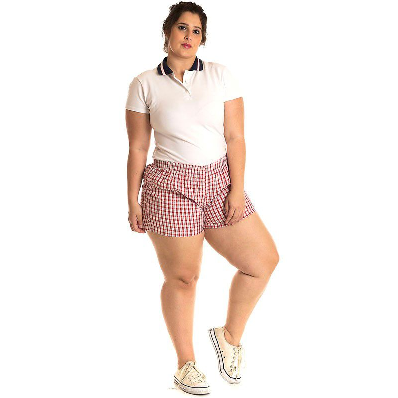 Short Tecido Plus Size 51921