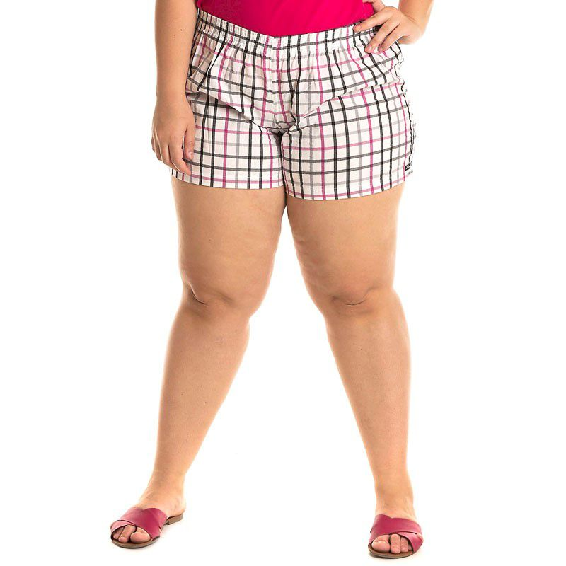 Short Tecido Plus Size 51927