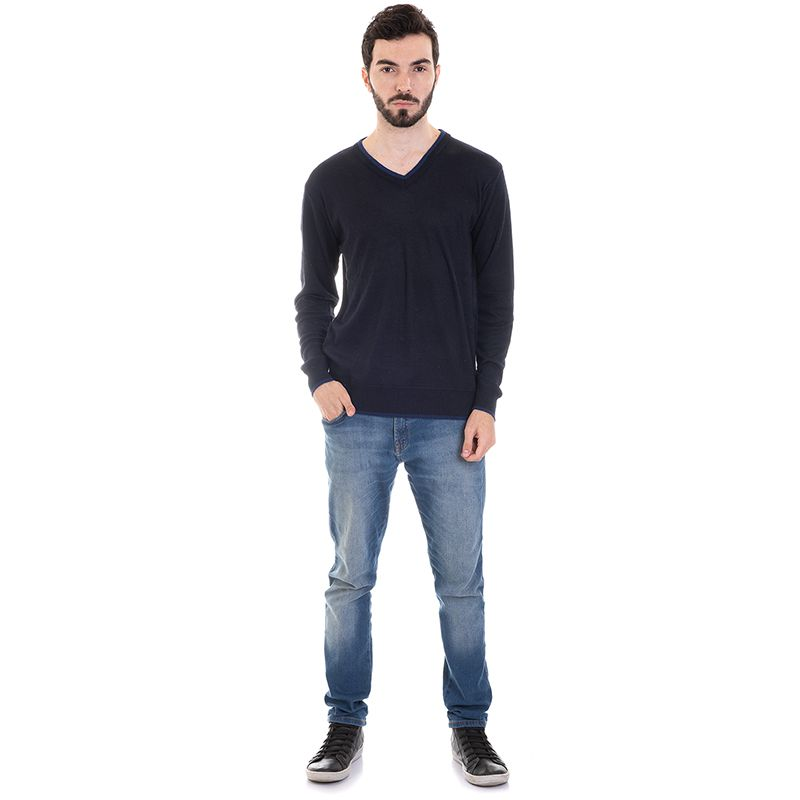 Suéter Decote V Liso 7059