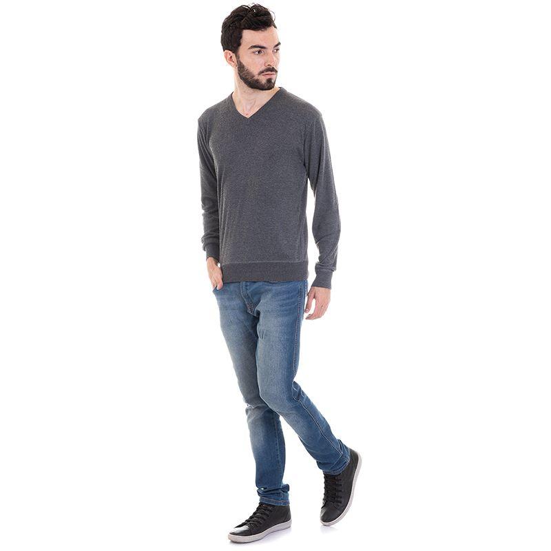 Suéter Decote V Liso 7065