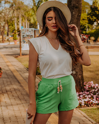 Kit Blusa New Zara & Shorts de Moletinho