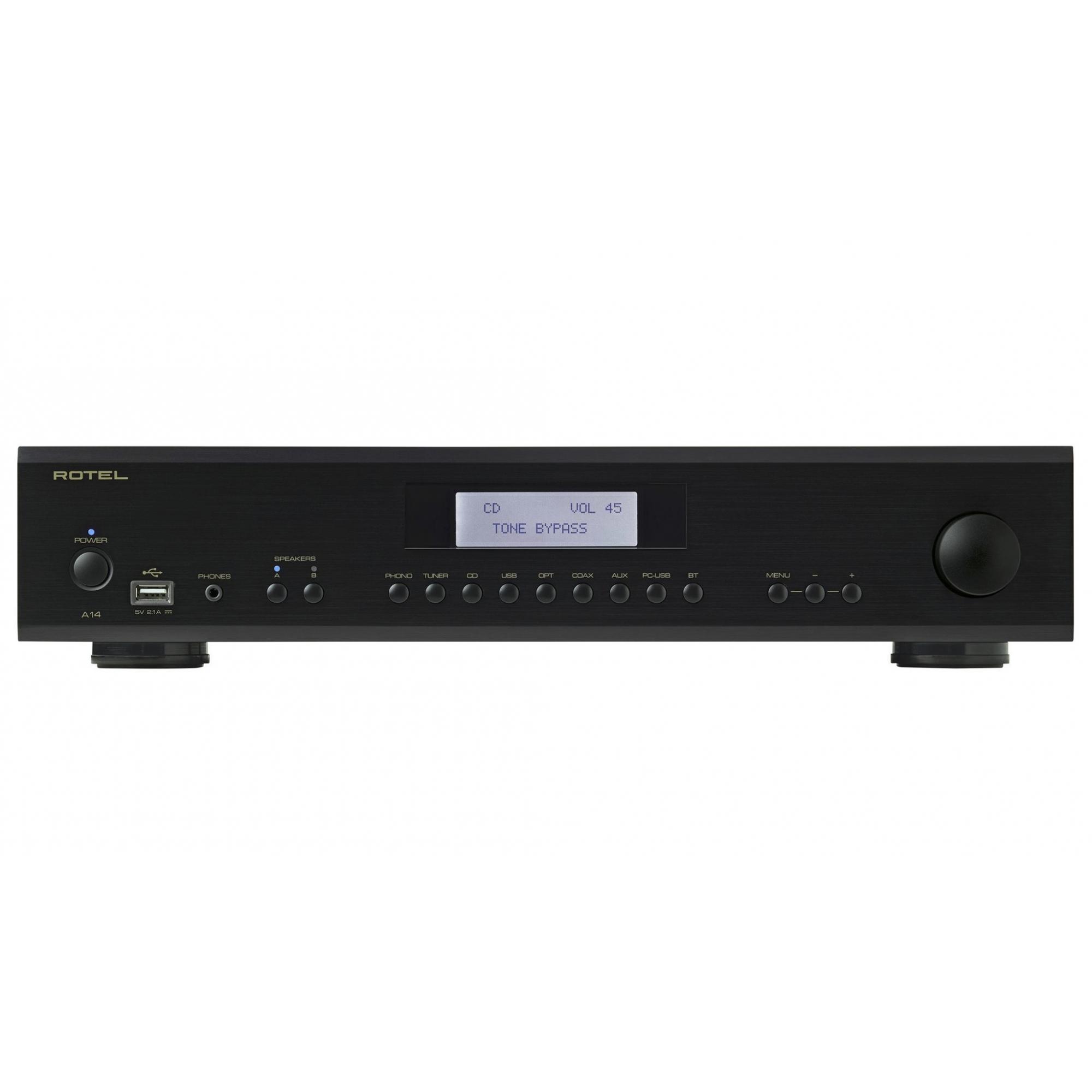 Amplificador integrado Rotel A14 Estéreo 80 W Canal Preto - 110v