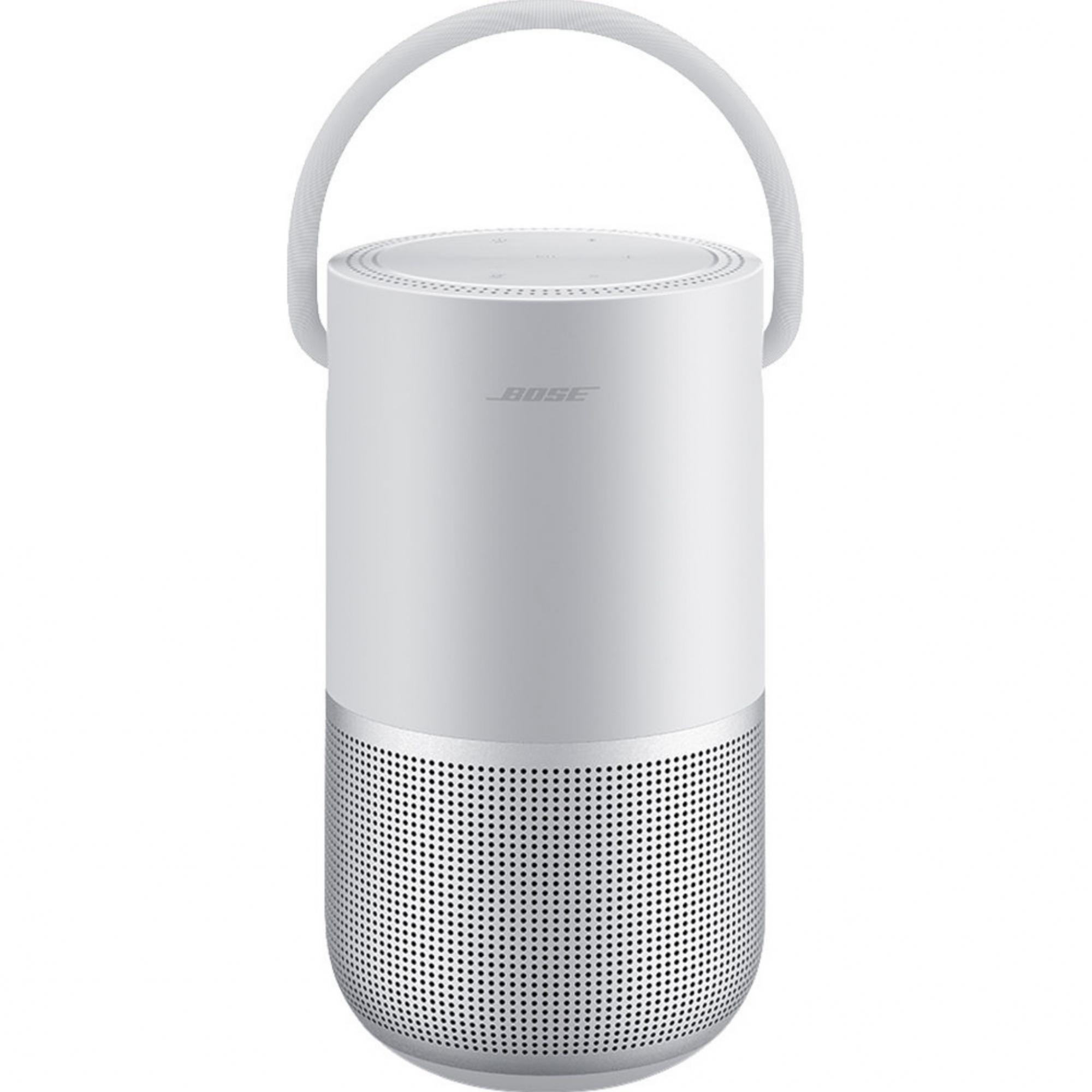 Bose Portable Smart Speaker  Alto-falante portátil inteligente com Wi-Fi integrado, Bluetooth, Google Assistant e Alexa Voice Control - Luxe Silver