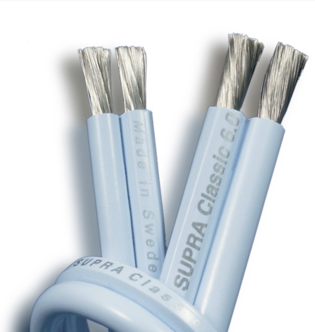 Cabo Caixa Acústica Supra Cables CLASSIC 2 X 6.0mm - 2 Metros