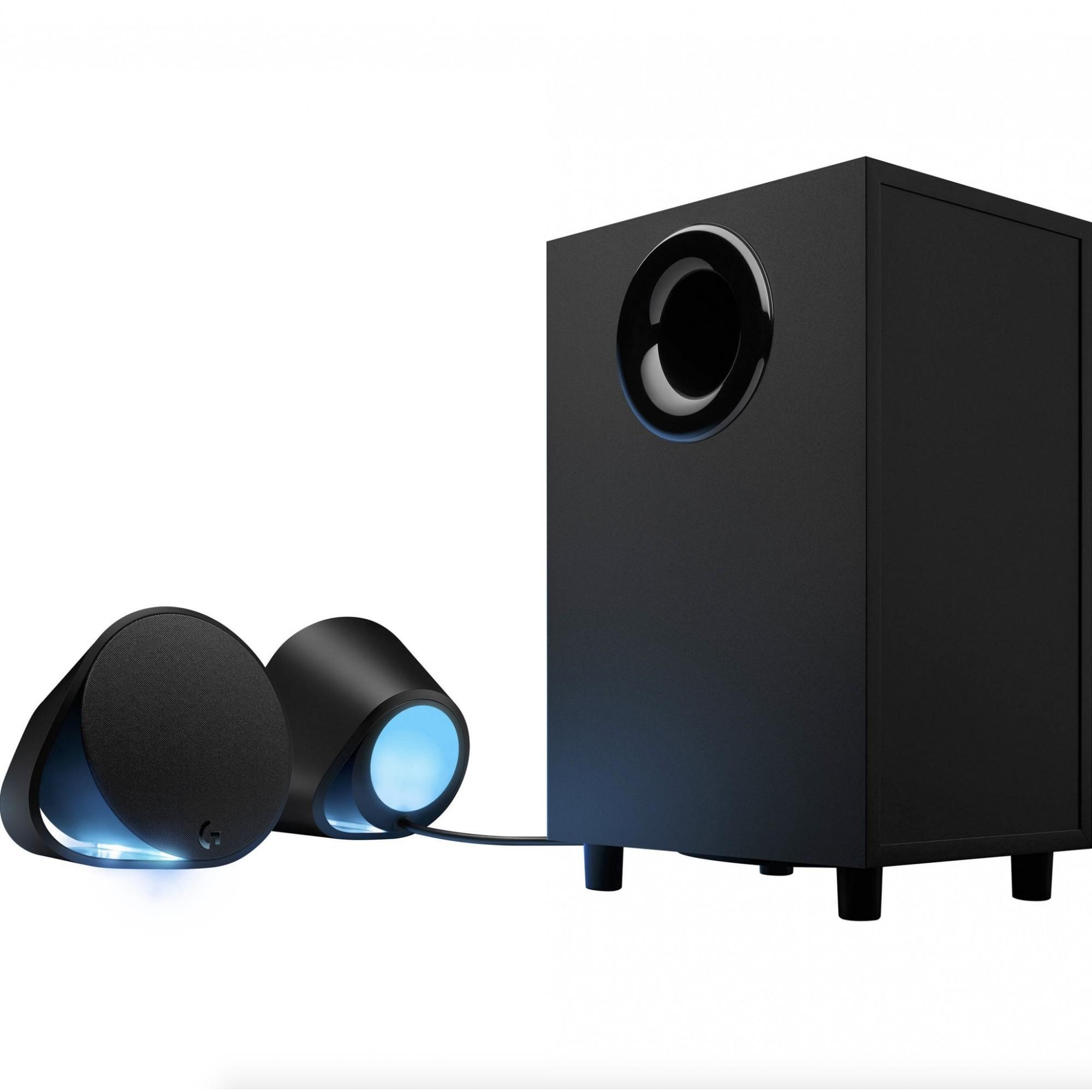 Caixa de Som Gamer Logitech G560 DTS:X Ultra Surround 240W RGB Lightsync USB/P3/Bluetooth - 980-001300