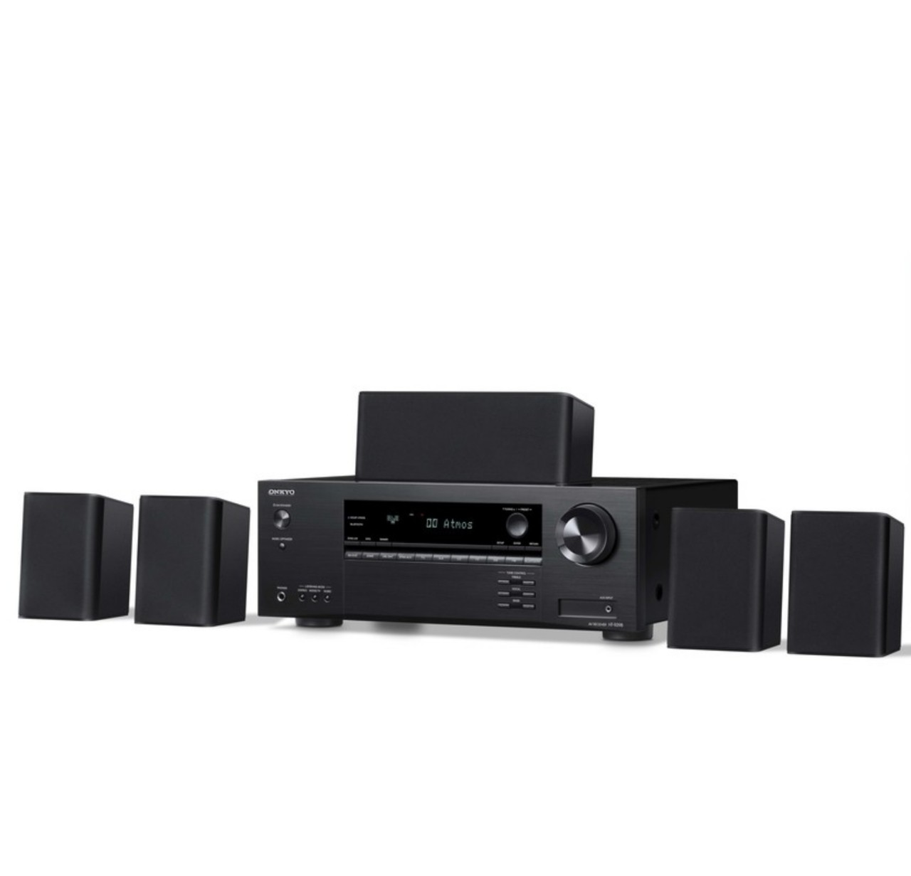 Home Theater Onkyo Ht-s3910 kit 5.0 sem SubWoofer Dolby Atmos E Dts 80w Por Canal