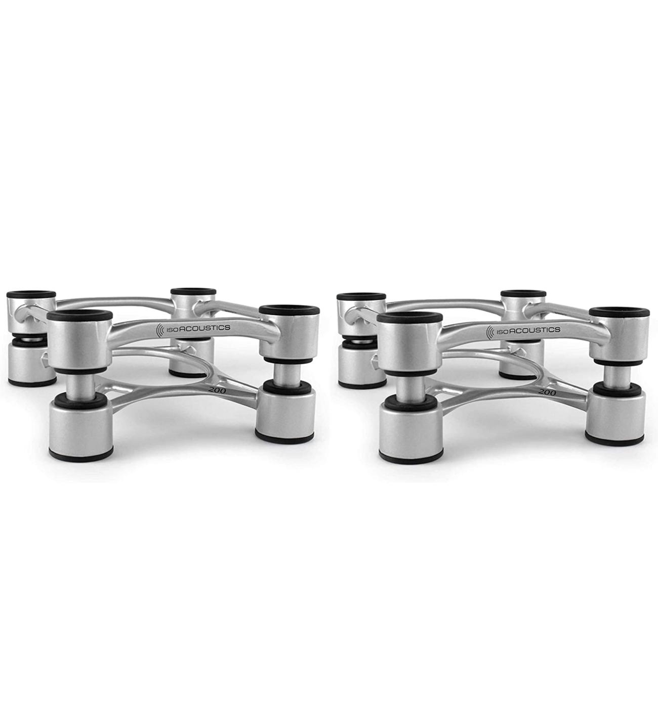 IsoAcoustics Aperta 200 Isolation Caixa Stands Alumínio Prata ( Par )