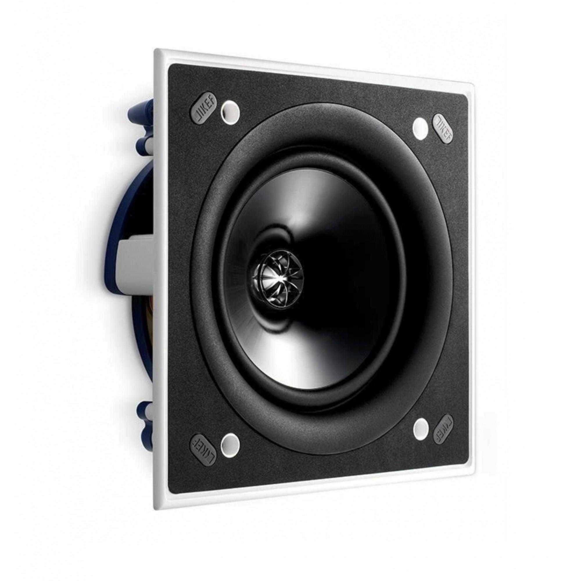 Kef Ci160Qs - Caixa Acústica Embutir GESSO Quadrada 125W - Unidade