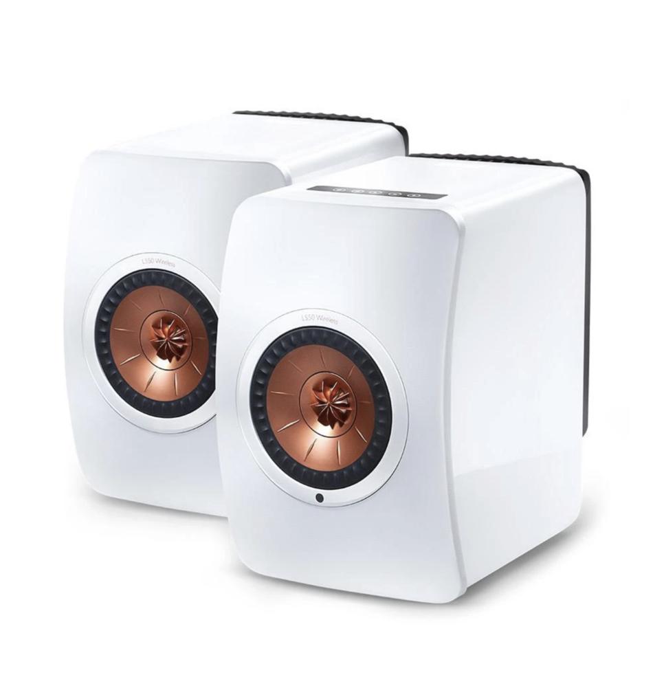 Kef LS50 Wireless ( Par ) Gloss White/Copper