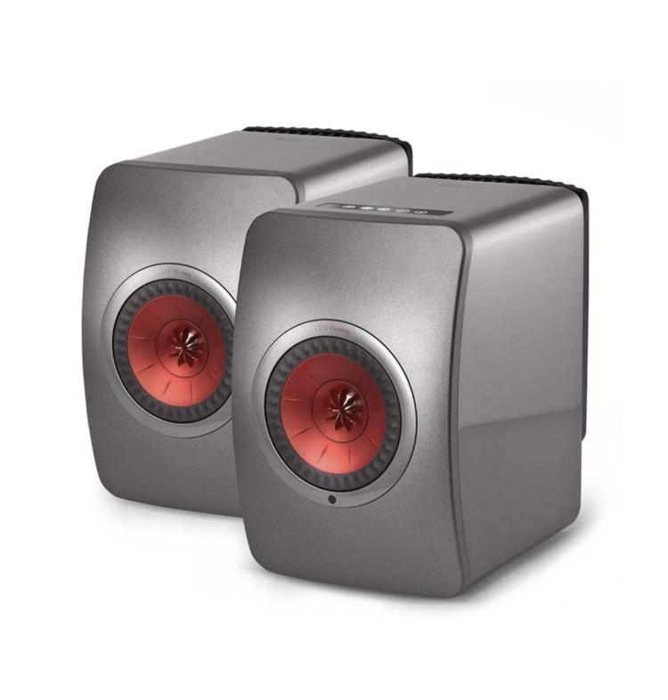 Kef LS50 Wireless ( Par ) Titanium Grey/Red