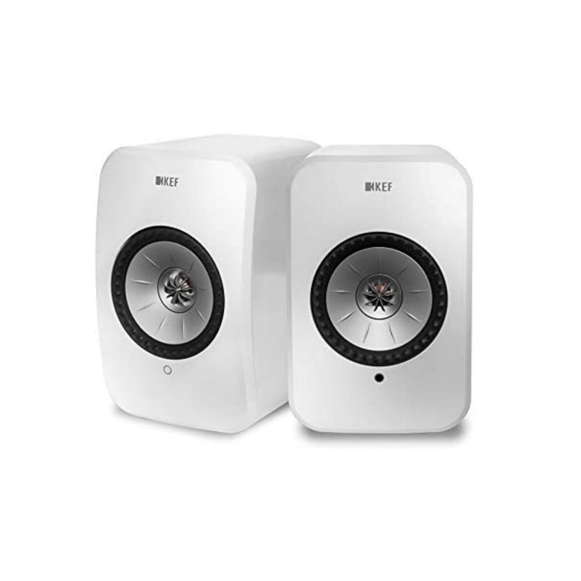 Kef Lsx Wireless Hi-res  Caixa Acústica Premium - Branco