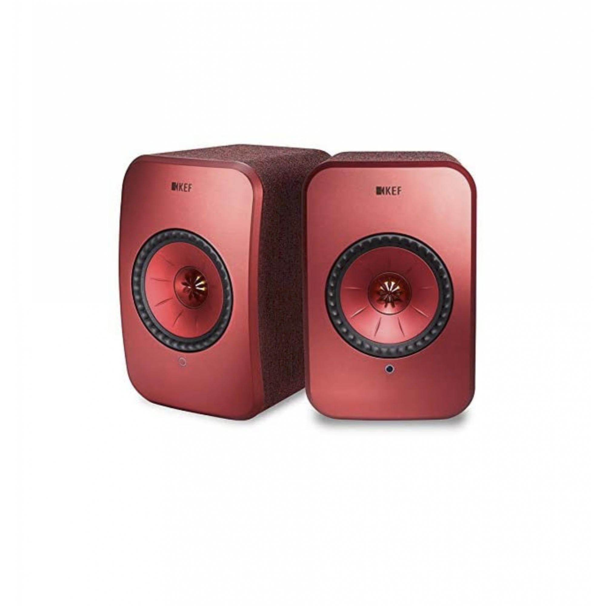 Kef Lsx Wireless Hi-res  Caixa Acústica Premium - Vermelho Par