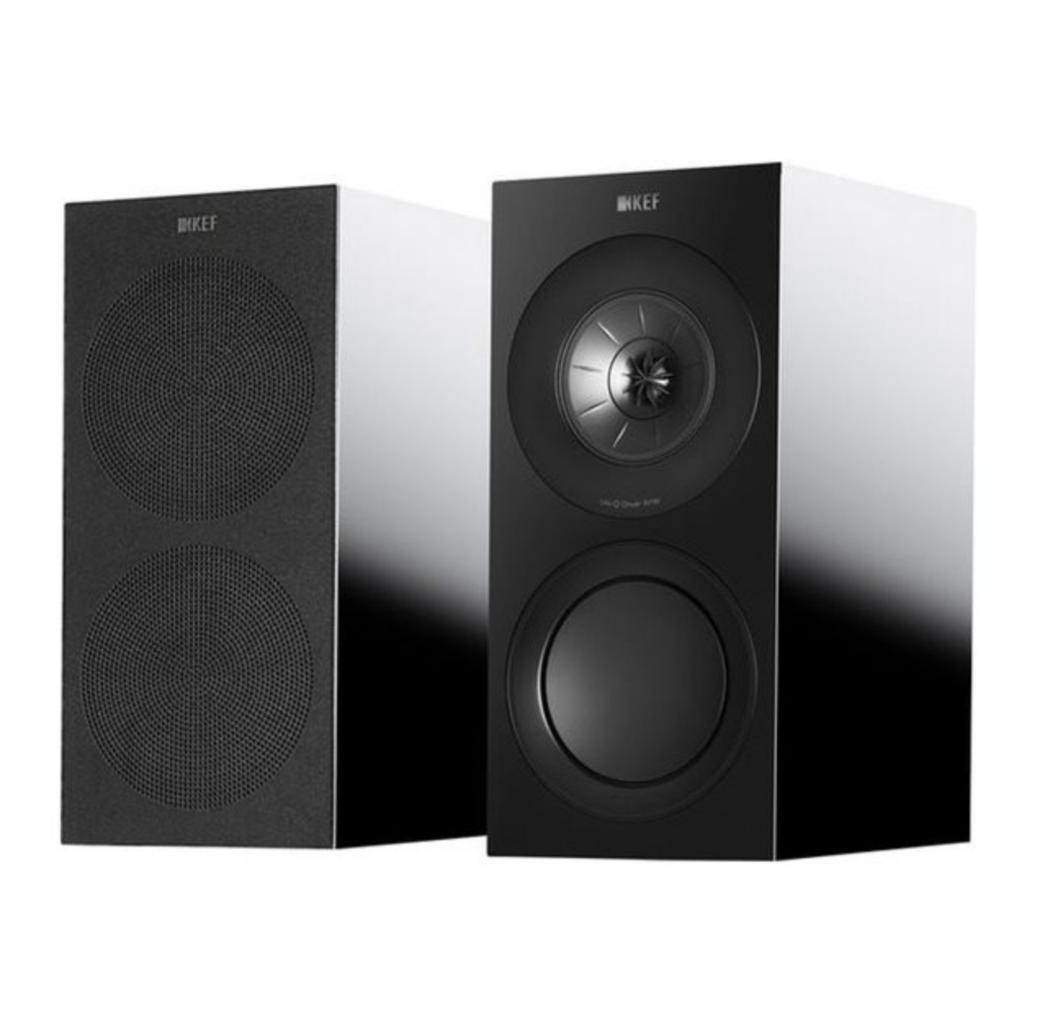 Kef R3 Series Bookshelf Speakers ( Par ) - Black Gloss