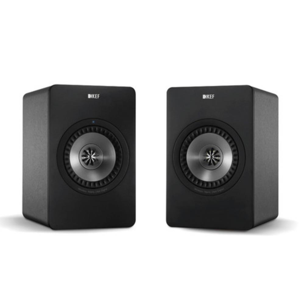 KEF X300A Alto-falantes Digitais Hi-Fi Digitais de 2 Vias com Entrada USB Gunmetal Grey (Par)