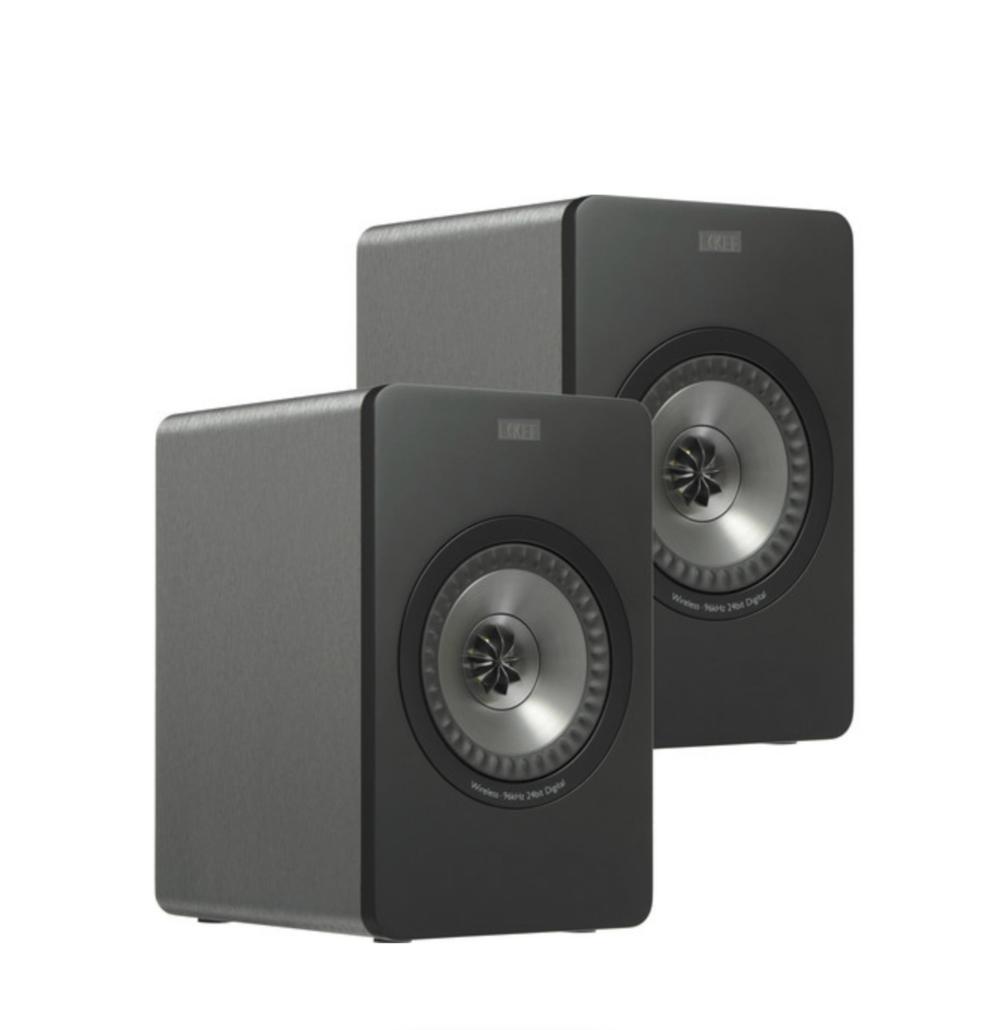 KEF X300A Wireless Alto-falantes Digitais Hi-Fi Entrada USB Gunmetal Grey (Par)