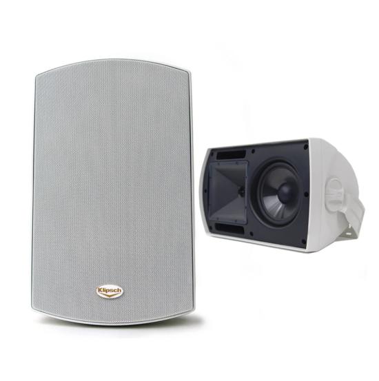 Klipsch Aw-650 Par Caixas Acústicas Uso Externo Branco